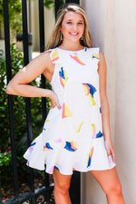 Colorful Ruffle Shift Dress - Shop Kendry Collection Boutique Online