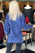 Eternal Love Puff Sleeve Sweater - Blue - Kendry Collection Boutique