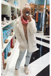 Fabulously You Ivory Faux Fur Coat- Kendry Collection Boutique online