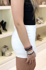 Faux Leather Envelope Skort - Off White - Kendry Collection Boutique