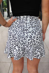 Finding Peace Leopard Print Wrap Mini Skirt - Kendry Collection Boutique