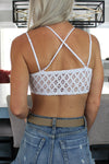 Flower To The People White Scalloped Lace Bralette - Kendry Collection Boutique