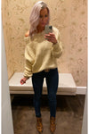 Fuzzy Off The Shoulder Long Sleeve Sweater - Cream - Kendry Collection Boutique