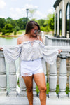 Gold Off The Shoulder Long Sleeve Top- Shop Kendry Collection Boutique