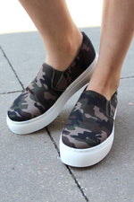 Green Camo Slip On Sneakers - Kendry Collection Boutique