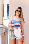 Sage Green Spaghetti Strap Cropped Tank - Kendry Collection Boutique