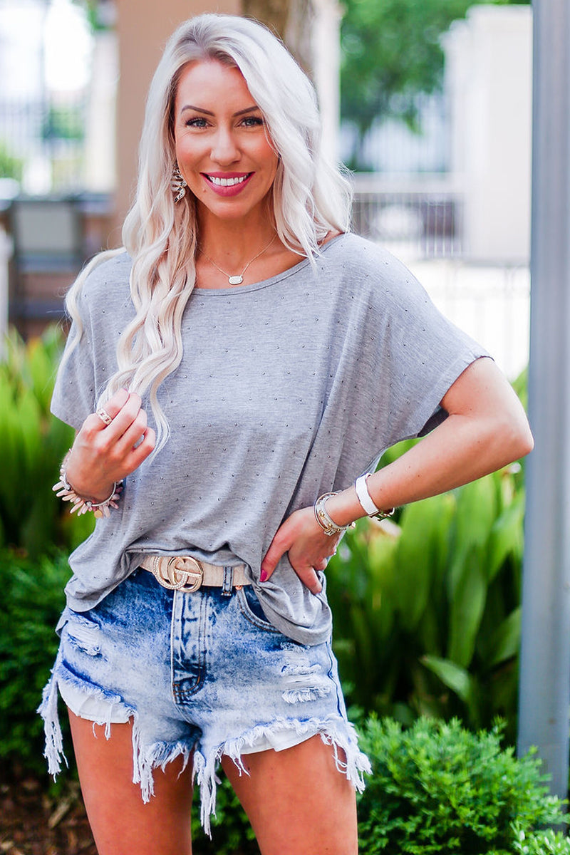 Maggie Destroyed High Rise Denim Shorts - RESTOCK