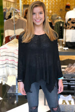 Oversized Black Knit Sweater - Kendry Collection Boutique