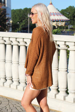 Hot Topic Knit Sweater - Rust - Kendry Collection Boutique