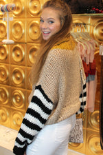 Say So Color Block Knit Sweater - Mocha - Kendry Collection Boutique