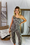 Jet Setter Camo One Shoulder Jogger Jumpsuit - Shop Kendry Collection Boutique