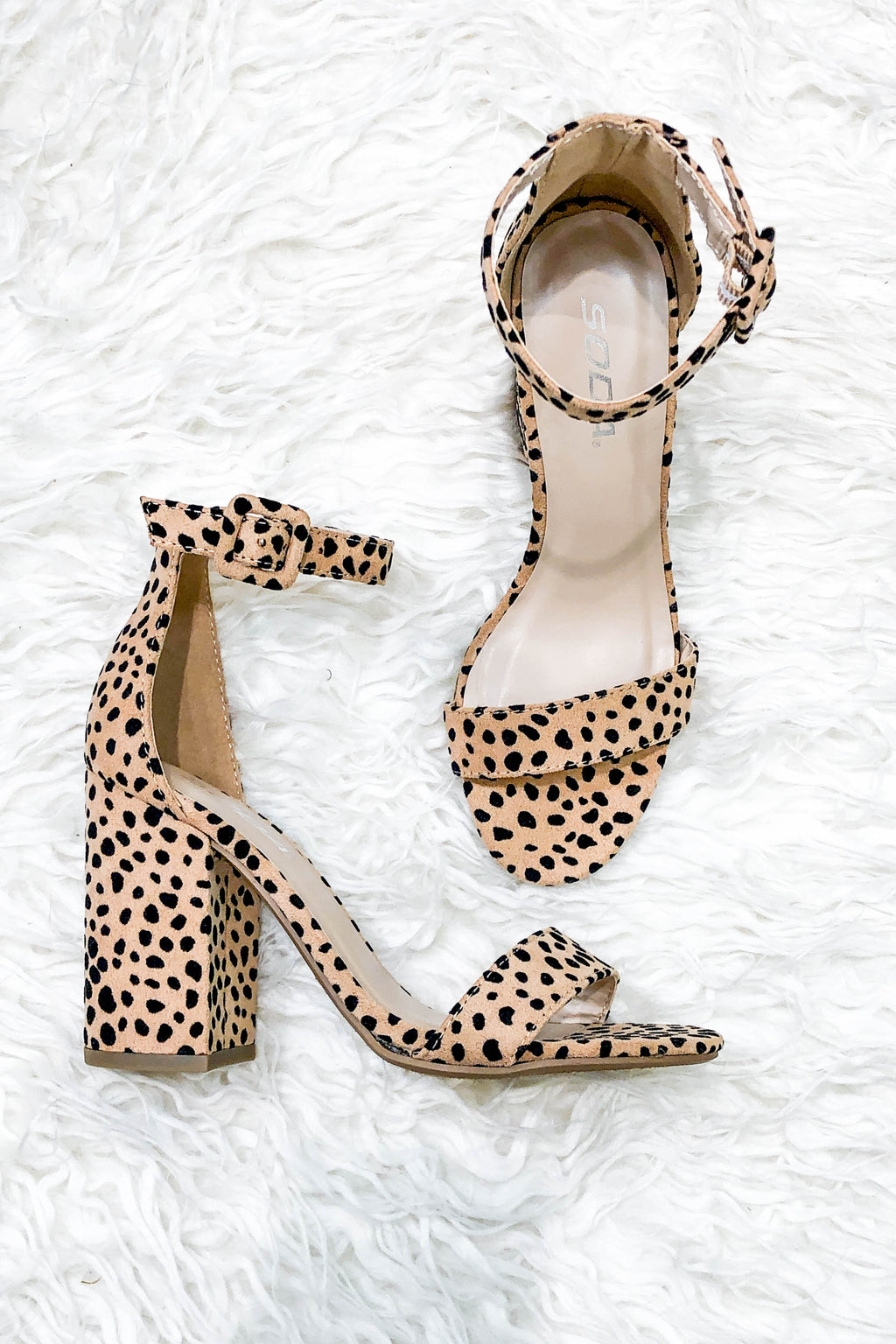 Leopard Block Heel Sandals - Shop Kendry Collection Boutique