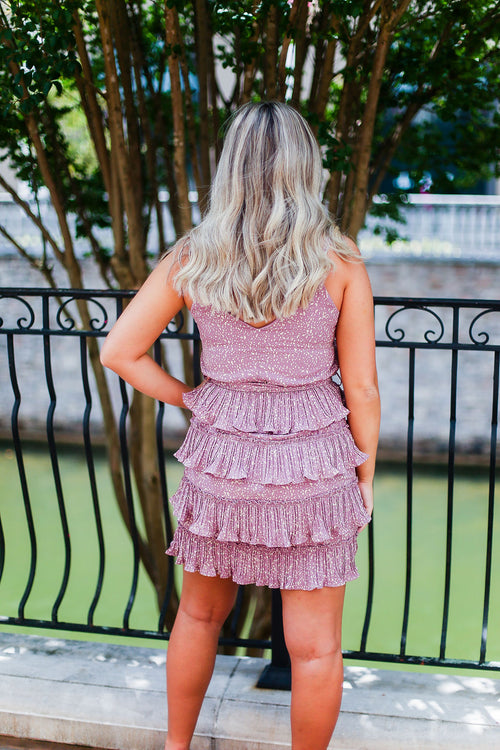 Lavender Ruffle Mini Dress - Shop Kendry Collection Boutique Online