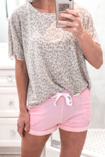 Taupe Leopard Print Cropped Tee - Kendry Collection Boutique