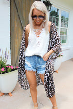 Wild Child Leopard Print Duster