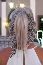 Leopard Hair Scarf Scrunchie - Light