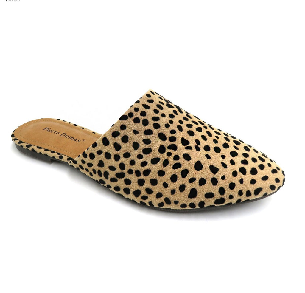 Cheetah Pointed Toe Flat Mule Slide - Kendry Collection Boutique