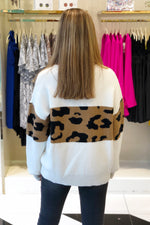 Leopard Print Color Block Sweater - Kendry Collection Boutique