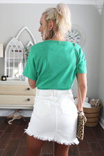 Lucky St. Patty's Day Green T-shirt, St. Patrick's Day Graphic Tee - Find Cute Women's Tops At Kendry Collection Boutique