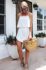 Lucky You White Skort Romper - Kendry Collection Boutique