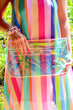 Clear Game Day Purse, Transparent Holographic Clutch, Fashion Holographic Clear Clutch Crossbody, iridescent envelope clutch Holographic bag, transparent bag, clutch bag, Holographic bag, iridescent bag | Shop Women's Clutches, Bags And Purses Online Now At Kendry Collection Online Boutique