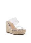 Marnie Clear Strap Wedge Sandal - Kendry Collection Boutique