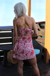 Maui Is Calling Red Tropical Print Mini Dress, Cute Vacation Dress, Resort Outfits - Kendry Collection Boutique