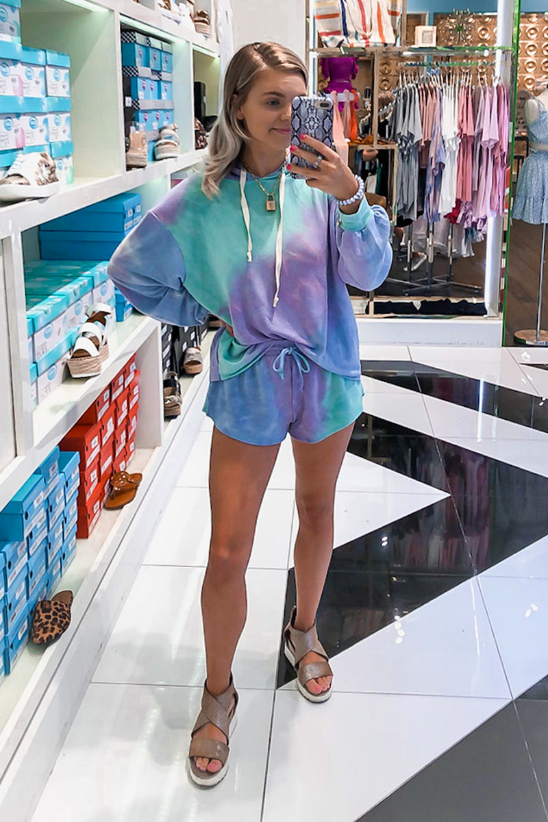 Mint Green And Lavender Tie Dye Short Set - Shop Kendry Collection Online Boutique