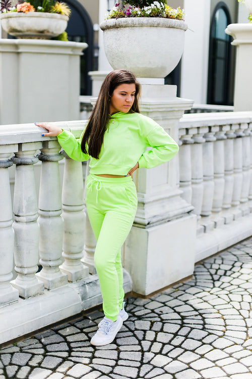 Neon Green Jogger Set - Kendry Collection Boutique