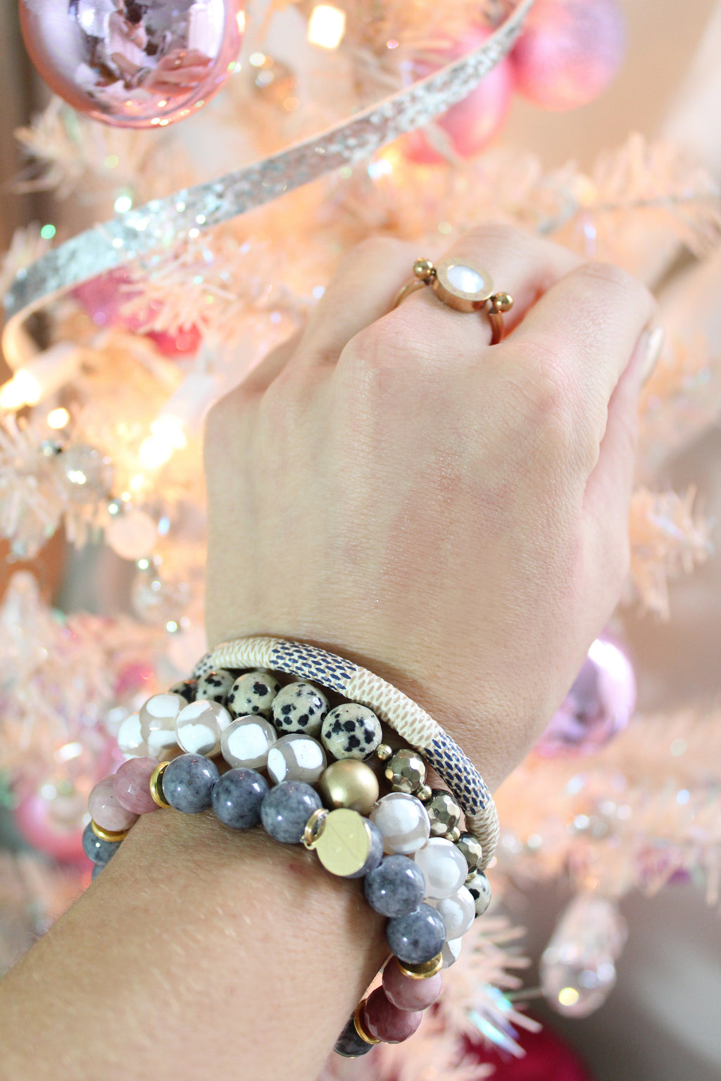 Handmade Jewelry, Trendy Gemstone Bracelet Stack - Find Cute Handmade Bracelets Online Now At Kendry Collection Boutique