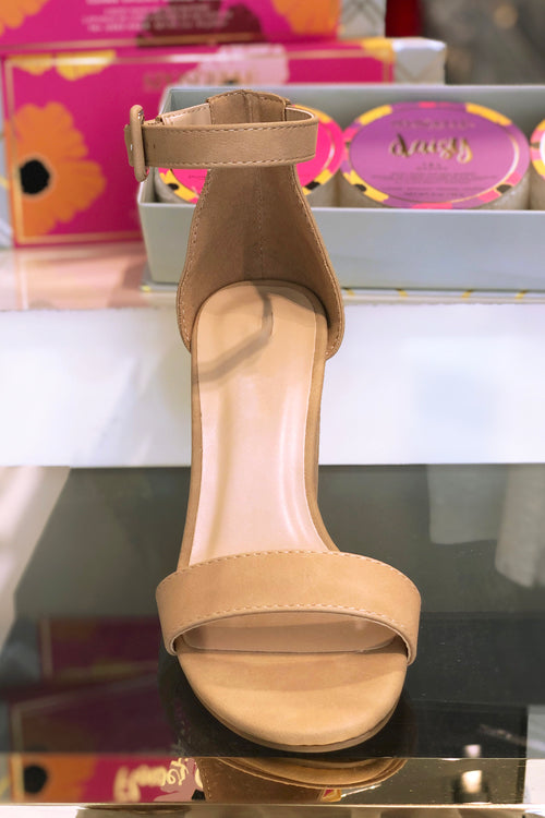 Nude Block Heel Sandals - Shop Kendry Collection Boutique