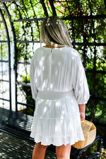 Off White Smocked Dress - Shop Kendry Collection Boutique Online