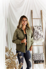 Olive Green Star Patch Jacket - Shop Kendry Collection Boutique