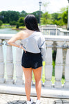 Black Asymmetrical Denim Skort - Shop Kendry Collection Boutique