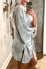Open Back Grey Knit Cardigan - Shop Kendry Collection Boutique