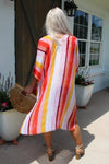 Pocket Full Of Sunshine Orange Multi Striped Duster