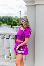 Orchid Purple Ruffle Two Piece Skirt Set - Kendry Collection Boutique