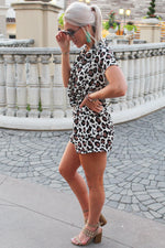 Out And About Leopard Print Romper