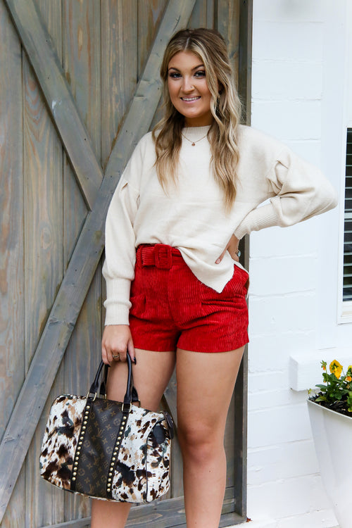 Oversized Balloon Sleeve Knit Sweater- Shop Kendry Collection Boutique