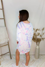 Oversized Cotton Candy Tie Dye Ribbed Tee - Shop Kendry Collection Boutique