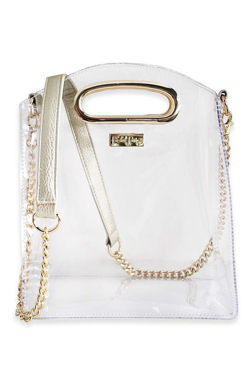 Packed Party Cooper Clear Crossbody Bag - Gold