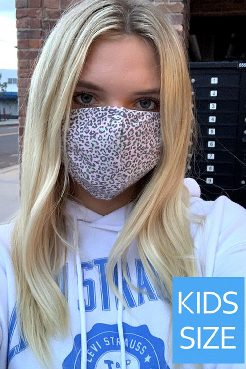 Pink Leopard Kids Face Mask - Shop Kendry Collection Boutique