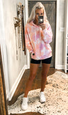 Pink Tie Dye Crewneck Sweatshirt - Shop Kendry Collection Boutique