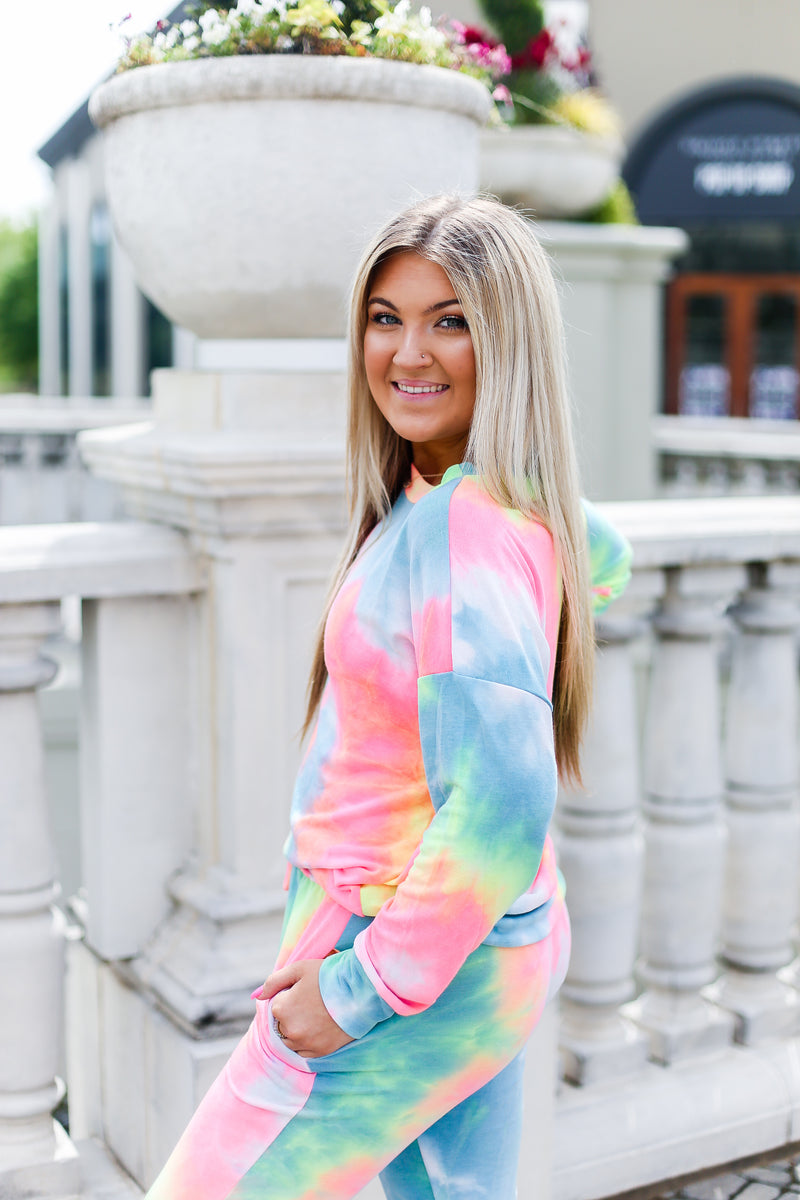 Rainbow Tie Dye Set Pullover - Kendry Collection Boutique