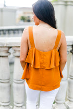 Rust Orange Ruffle Tank Top - Shop Kendry Collection Boutique