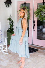 Sage Green Ruffle Midi Maxi Dress - Shop Kendry Collection Boutique