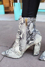 Trendy Signal Snakeskin Booties - Kendry Collection Boutique