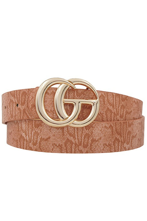Snakeskin GG Belt - Clay - Kendry Collection Boutique