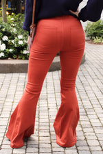 So Fab High Waisted Bell Bottoms - Orange