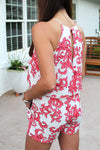 Summer Lovin' Halter Neck Romper - Coral - Kendry Collection Boutique